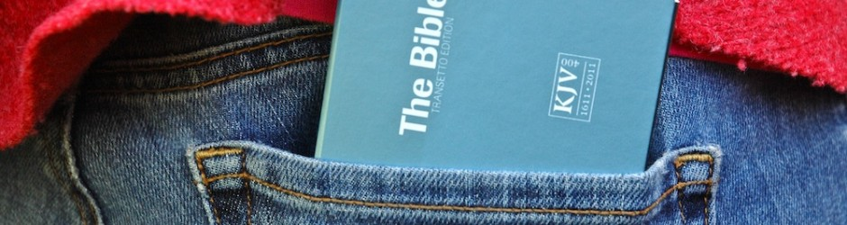 Bible in jeans pocket